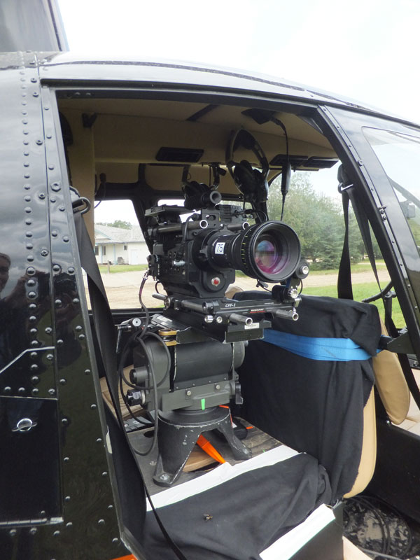 camera in helicopter