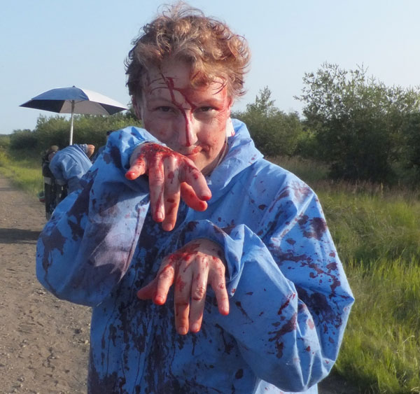 Lorraine in bloody make-up