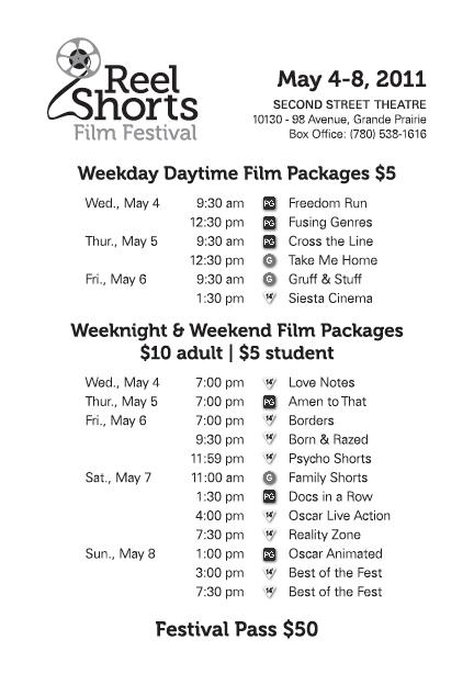 Reel Shorts Schedule