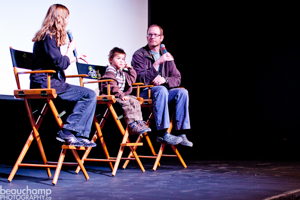 Filmmaker Rio Fitch and his son Skyler