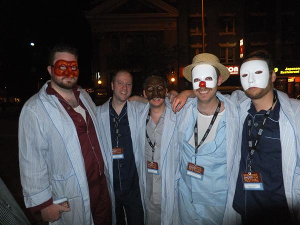 Scott and the guys before WSFF screening