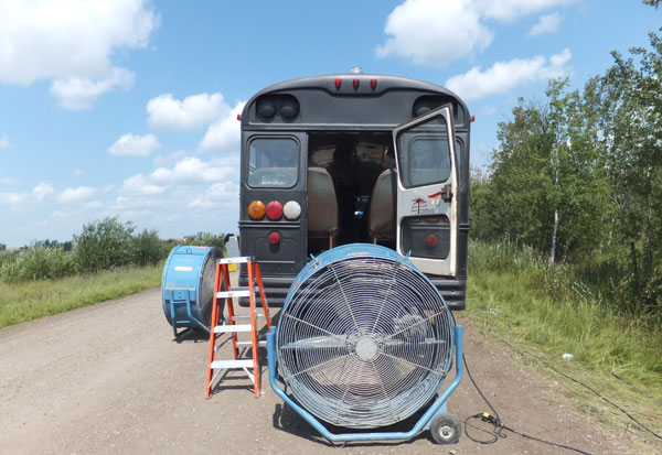 fan and bus